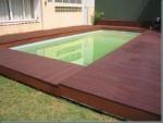 deck de  madeira comresina sem brilho como se fosse em piso laminado