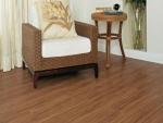 piso laminado cappuccino com aparência de madeira natural