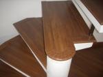 Escada colocado com Piso laminado ospefloor Laminado cor Ipe es